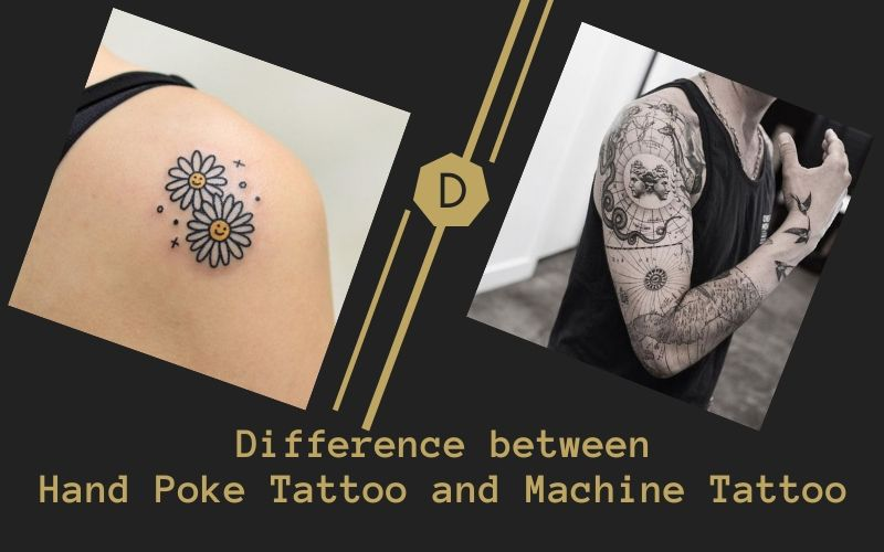 Difference between Hand Poke Tattoo and Machine Tattoo