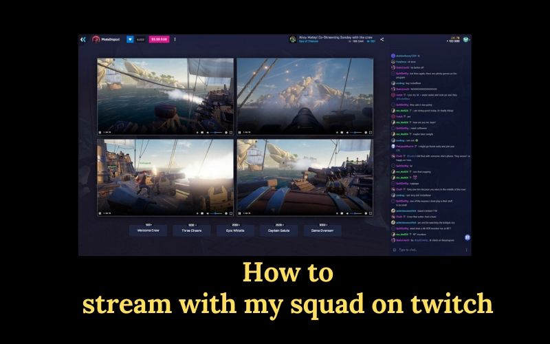 How to stream with my squad on twitch