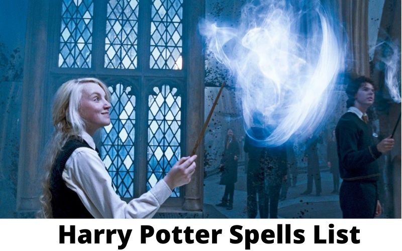 harry potter spells list