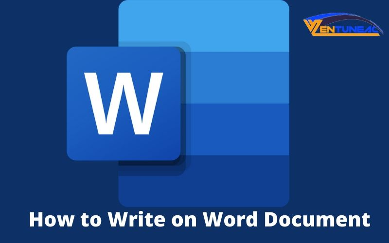 how to write on word document