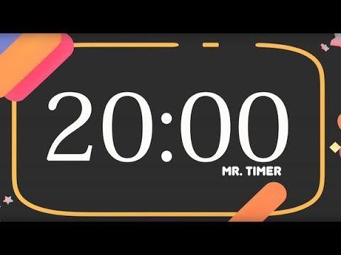 Set A Timer For 20 Minutes